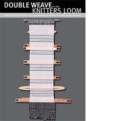 DOUBLE WEAVE on the KNITTERS LOOM